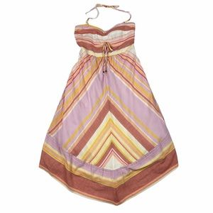 Anthropologie Striped Halter Dress Size 10 New